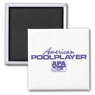 American Pool Player - Blue Square Magnet
