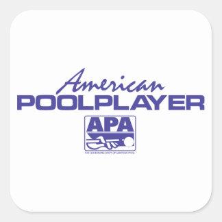 American Pool Player - Blue Square Sticker