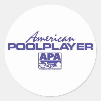 American Pool Player - Blue Sticker