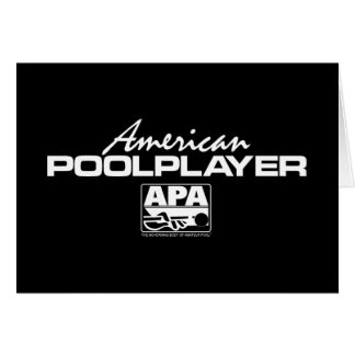 American Pool Player Cards