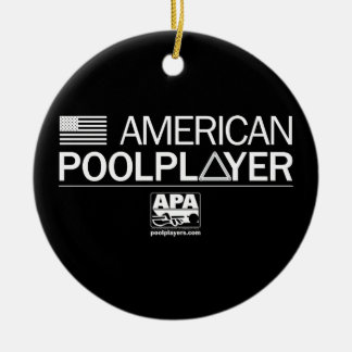 American Pool Player Christmas Ornament