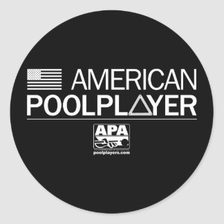 American Pool Player Classic Round Sticker