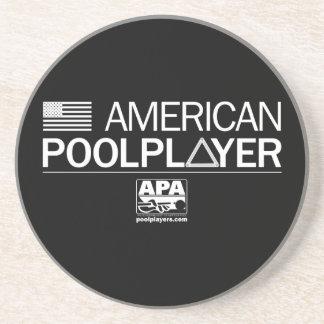 American Pool Player Beverage Coasters