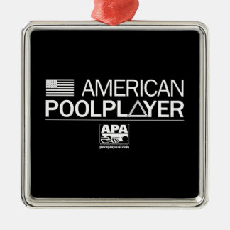 American Pool Player Silver-Colored Square Decoration
