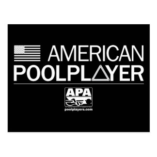 American Pool Player Postcard