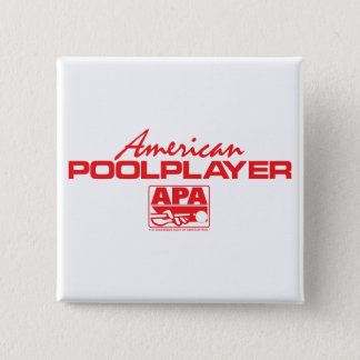 American Pool Player - Red 15 Cm Square Badge