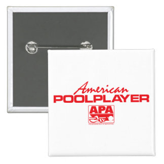 American Pool Player - Red 15 Cm Square Badge
