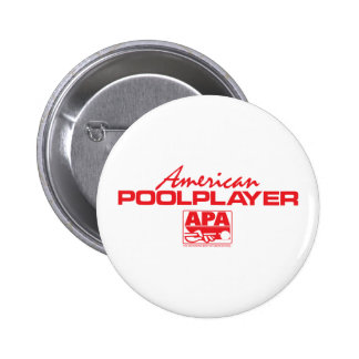 American Pool Player - Red Pinback Buttons