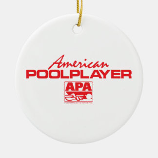 American Pool Player - Red Christmas Ornaments