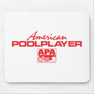 American Pool Player - Red Mousepads