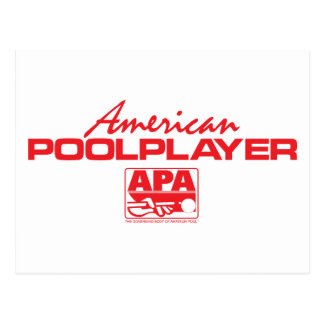 American Pool Player - Red Postcard