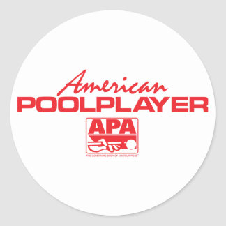 American Pool Player - Red Round Sticker