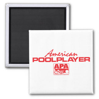 American Pool Player - Red Square Magnet