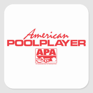American Pool Player - Red Square Sticker