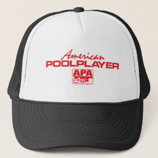 American Pool Player - Red Trucker Hat