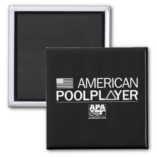 American Pool Player Square Magnet
