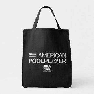 American Pool Player Grocery Tote Bag