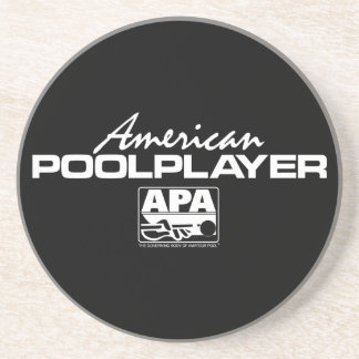American Pool Player - White Drink Coasters