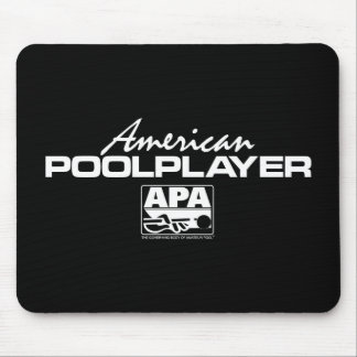 American Pool Player - White Mouse Mat
