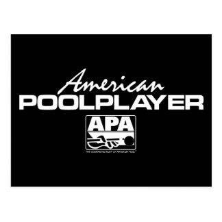American Pool Player - White Postcard