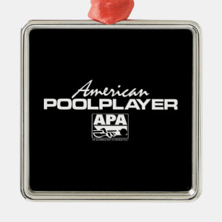 American Pool Player - White Silver-Colored Square Decoration