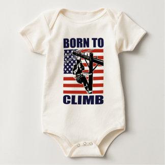 american power lineman electrician repairman pole baby bodysuit