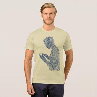 American Prayer 50/50 (creme w/ navy) T-Shirt