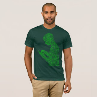 American Prayer (forest w/ neon green) T-Shirt