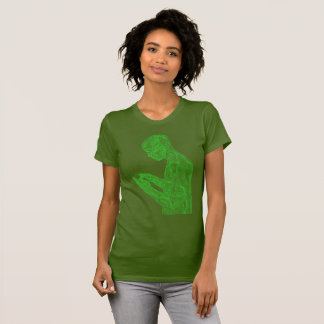American Prayer Women's (olive w/ neon green) T-Shirt