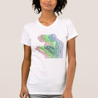 American Prayer Women's Triad (white w/ m, g, b) T-Shirt