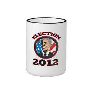 American President Barack Obama 2012 Mugs