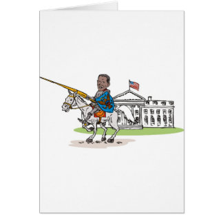 American President Barack Obama Knight rider horse Card