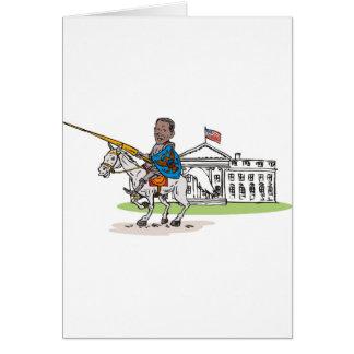American President Barack Obama Knight rider horse Card