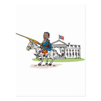 American President Barack Obama Knight rider horse Post Cards