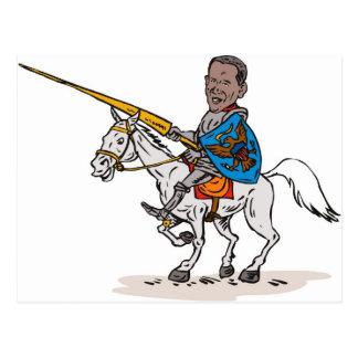 American President Barack Obama Knight rider horse Postcard
