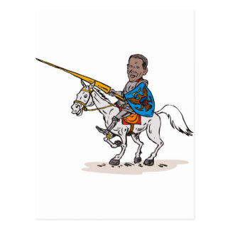 American President Barack Obama Knight rider horse Postcard