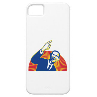American President Barack Obama pointing forward iPhone 5 Covers