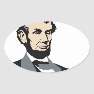 American Presidents: Abraham Lincoln 1861-1865 Oval Sticker