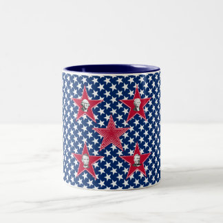 American Presidents with Star Background Mug