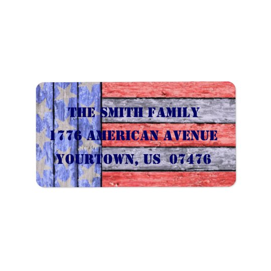 American Pride Address Label