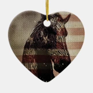 American Pride Ceramic Heart Decoration