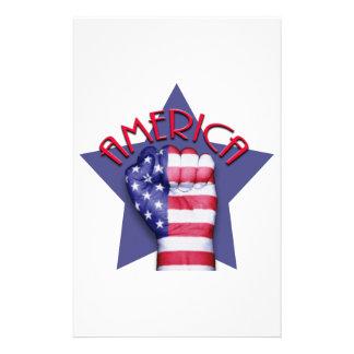 American Pride Fist Stationery Design