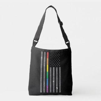 American Pride Flag Dark Sling Bag