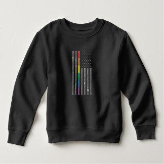 American Pride Flag Toddler Dark Sweatshirt