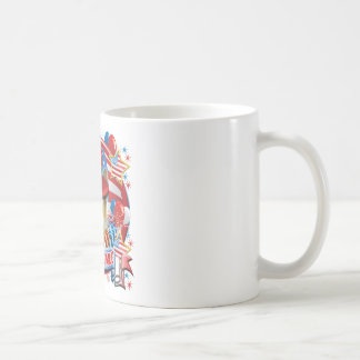 American Pride German Shepherd Basic White Mug