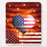 american pride heart design