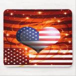 american pride heart design mouse mats