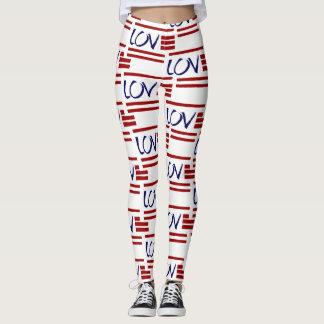 American Pride; LOVE the USA 2 Leggings