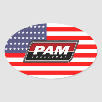 American Pride PAM Transport Oval Sticker