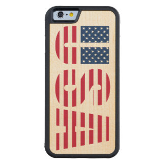 American Pride USA Star and Stripes Carved® Maple iPhone 6 Bumper